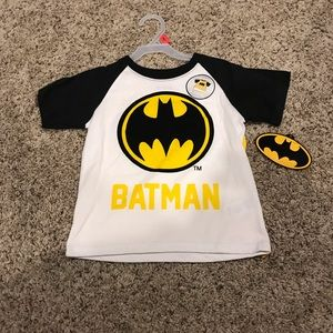 Kids Batman Shirt With Cape 2T New